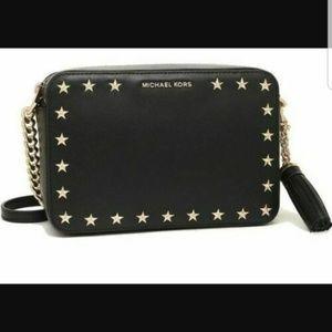 Michael Kors Black Leather Ginny Crossbody